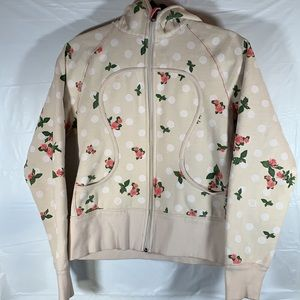 Lululemon Cream with Floral Print Scuba Sweater